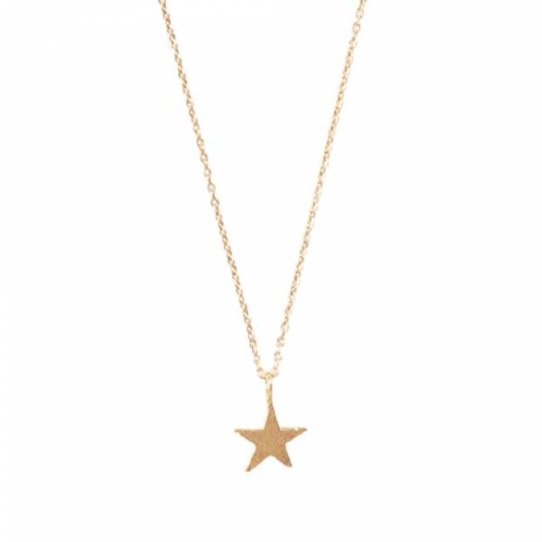 Delicate Star Sterling Silver Gold-plated Necklace