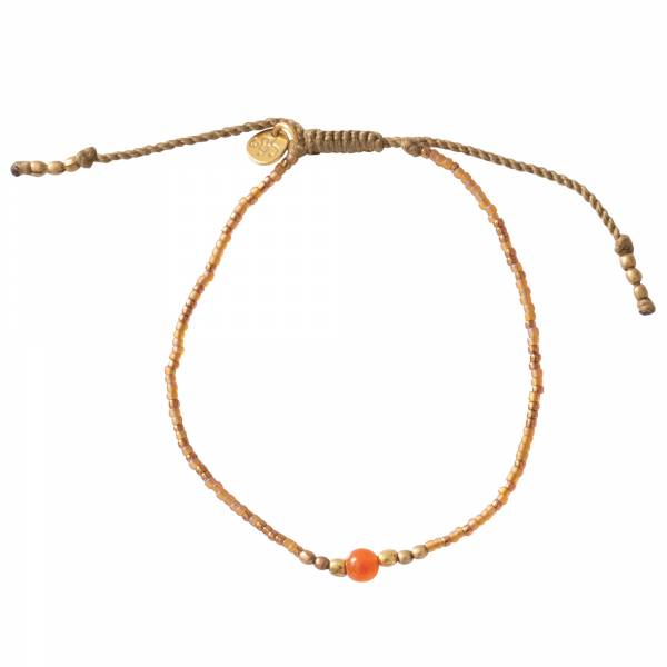 Iris Carnelian Gold Bracelet
