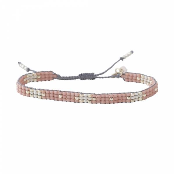 Summerlight Rose Quartz Silver bracelet