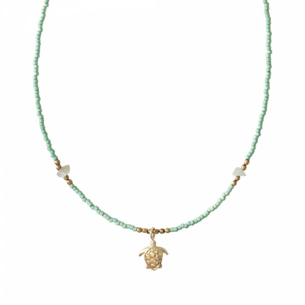Wildflower Aventurine Gold necklace