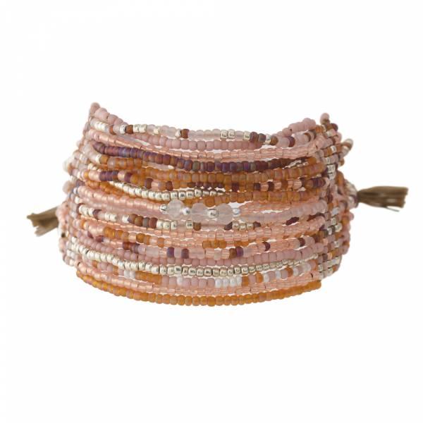 Brilliant Rose Quartz Silver bracelet