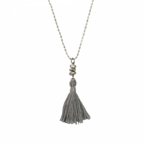 Miracle grey silver necklace