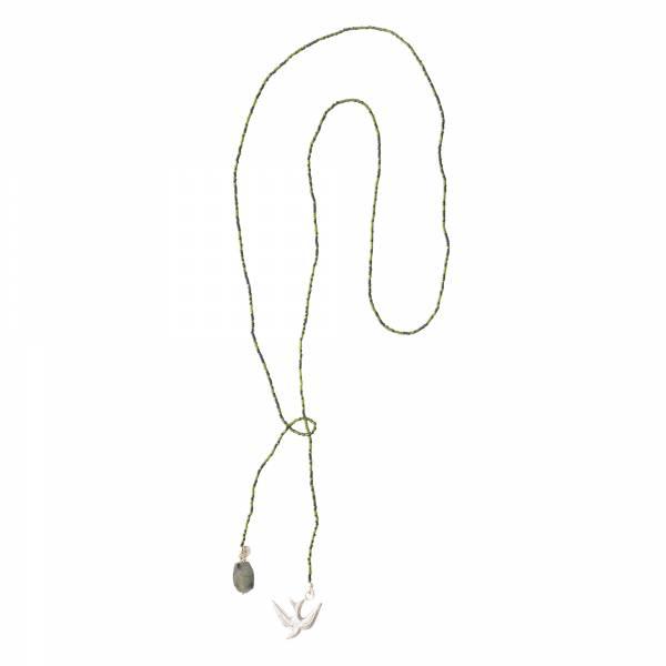 Nova Labradorit Silber Halskette