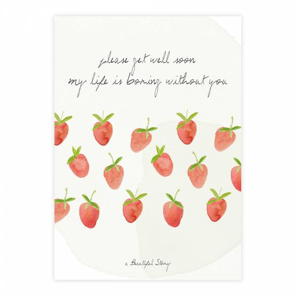 Greeting Card Strawberries