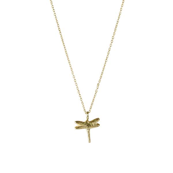 Delicate Dragonfly sterling silver goldplated necklace