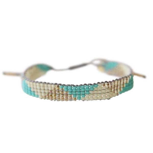 Stardust Moonstone triangle bracelet