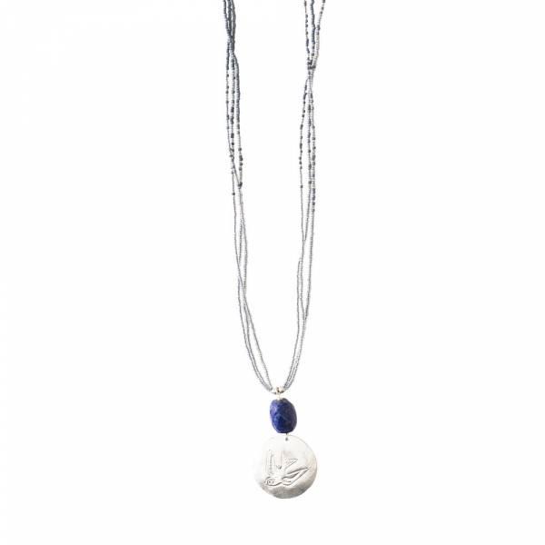 Cheerful Lapis Lazuli Zwaluw Zilver Ketting