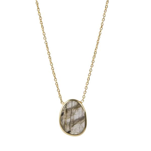 Tender Labradorite Sterling Silver Gold-Plated Necklace