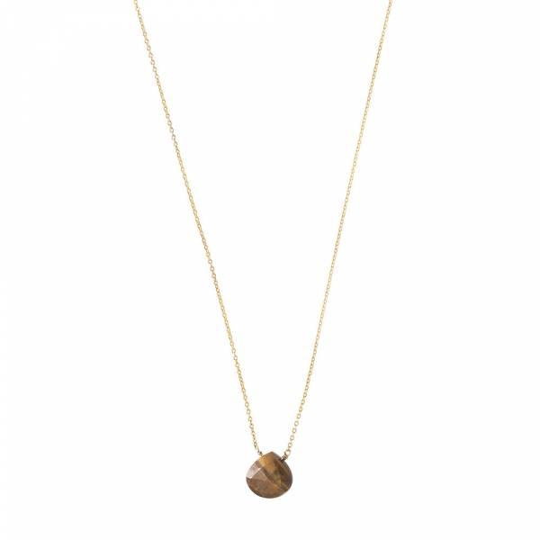 Divine Tiger Eye Gold Necklace