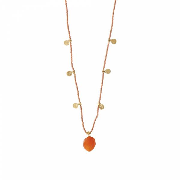 Charming Carnelian Gold necklace