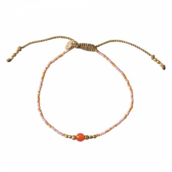 Iris Karneol Gold Armband