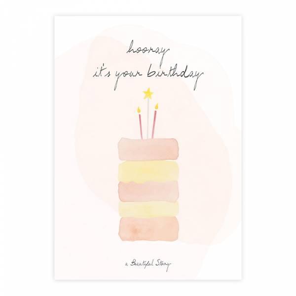 Greeting Card Cake