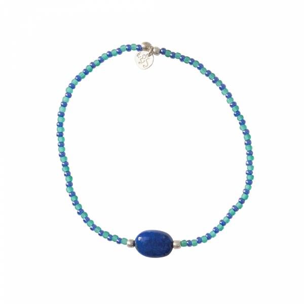 Summer Lapis Lazuli Silver bracelet