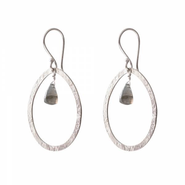 Powerful Labradorite Silver earrings