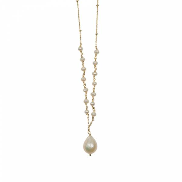 Festive Pearl Gold Necklace