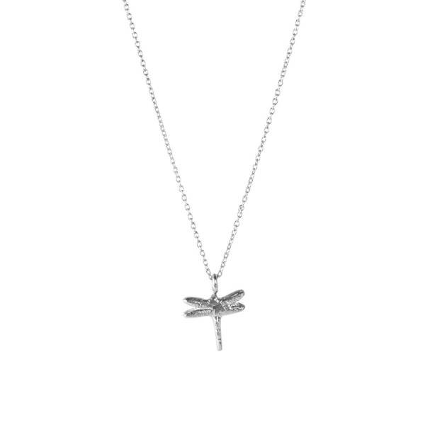 Delicate Dragonfly sterling silver necklace
