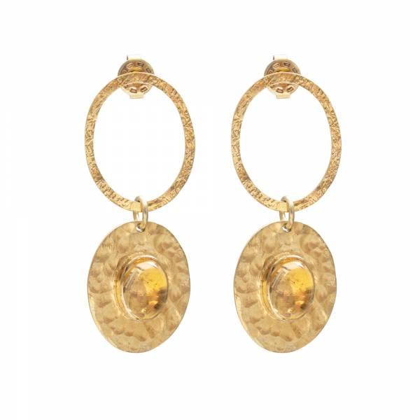 Thankful Citrine Gold Earrings