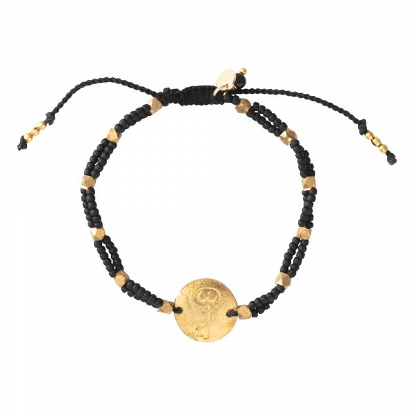 Gratitude Black Onyx Gold Bracelet