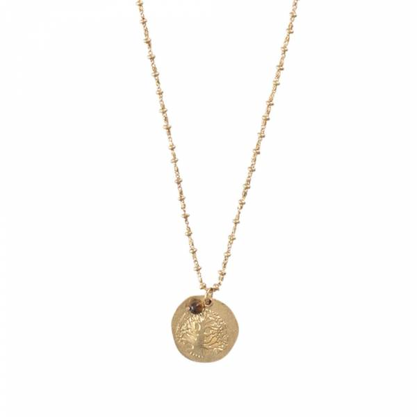 Melody Tree Gold Necklace