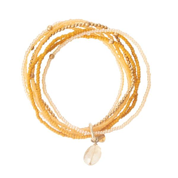 Nirmala Citrin Gold Armband