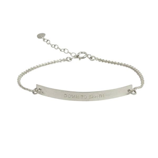 Flow Earth Silver Bracelet