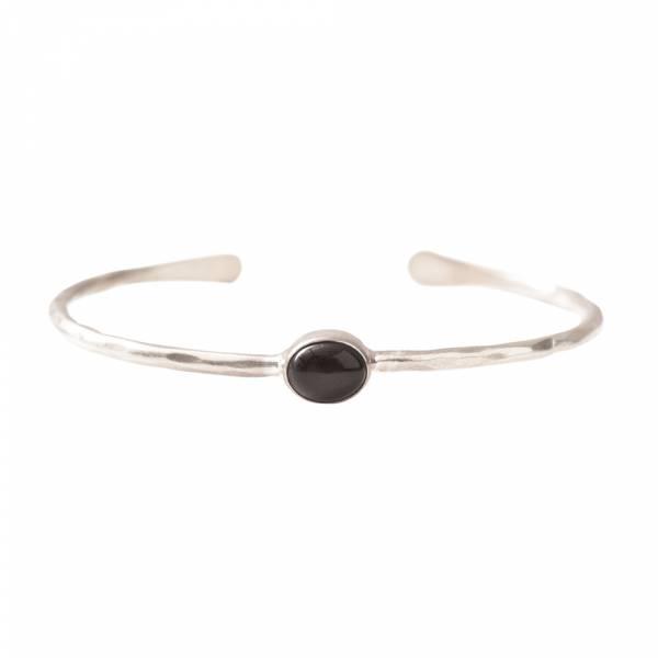 Moonlight Black Onyx Silver bracelet