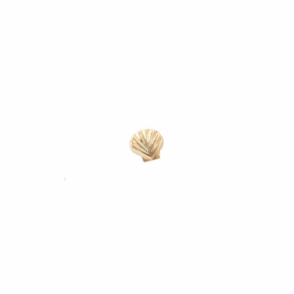 Shell Sterling Silver Gold-Plated Earring