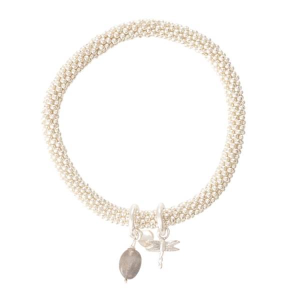 Jacky Labradorite Dragonfly Silver Bracelet