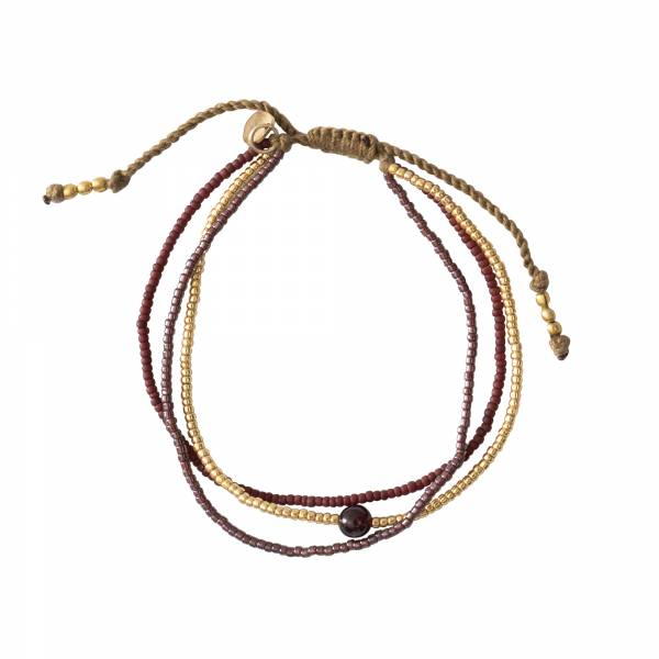 Bloom Garnet Gold Bracelet