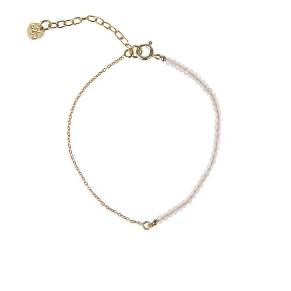 Darling Rose Quartz Sterling Silver Gold-Plated Bracelet