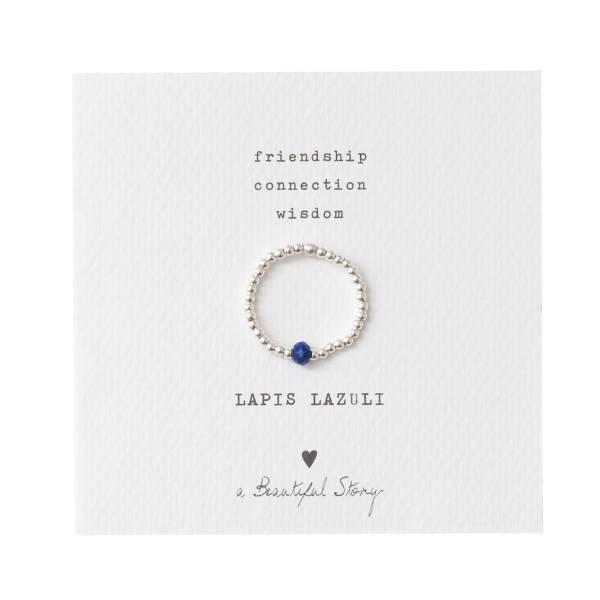 Sparkle Lapis Lazuli Silver Ring M/L