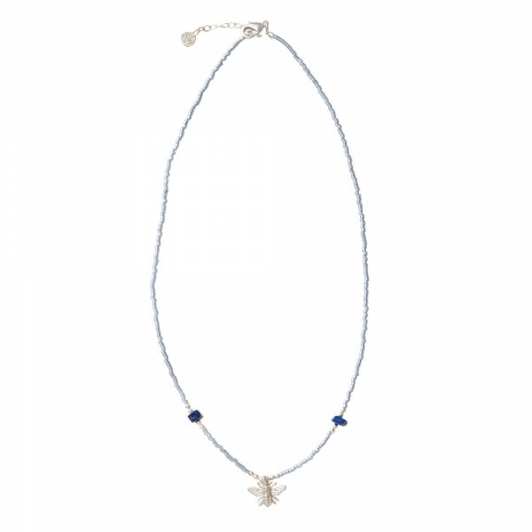 Wildflower Lapislazuli Silber Halskette
