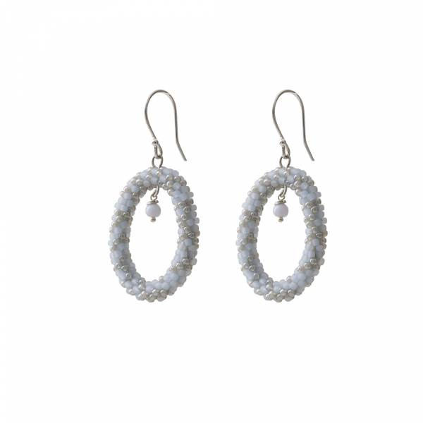 Faith Blue Lace Agate Silver Earring