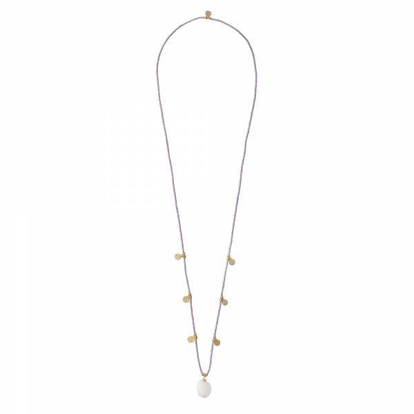 Charming Moonstone Gold Necklace