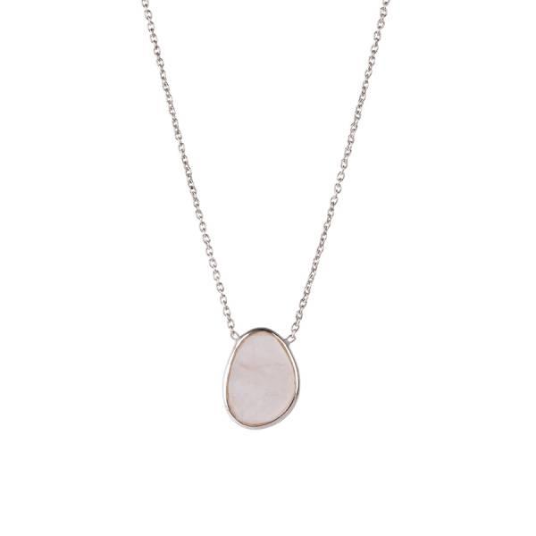 Tender Rose Quartz Sterling Silver Necklace