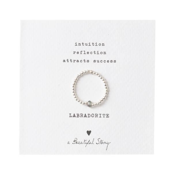 Sparkle Labradorit Ring S/M
