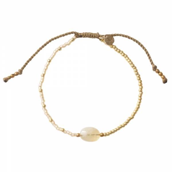 Ruby Citrien Goud Armband