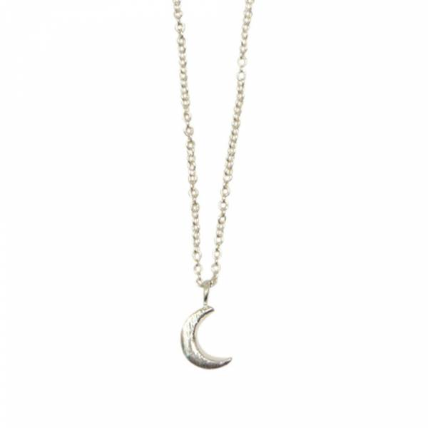 Flow Moon Silver Necklace