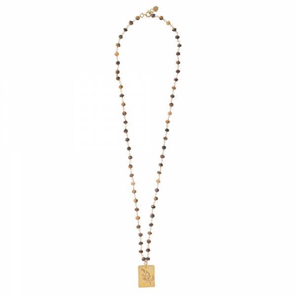 Radiate Tiger Eye Gold necklace