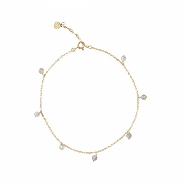Adore Labradorite Sterling Silver Gold-Plated Anklet