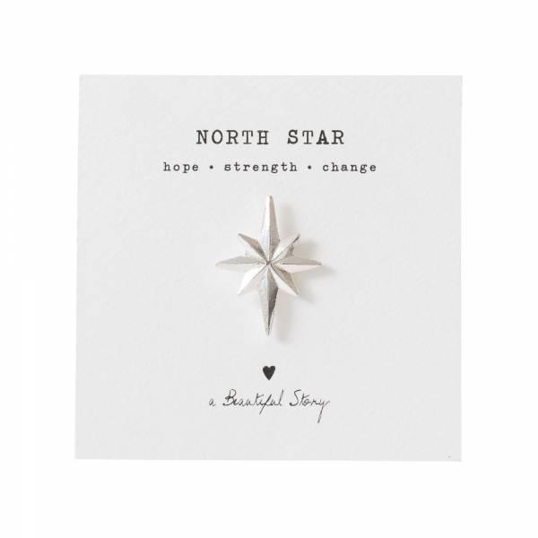 Brooch North star Silver