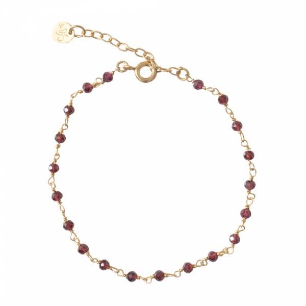 Harmony Garnet Gold Bracelet