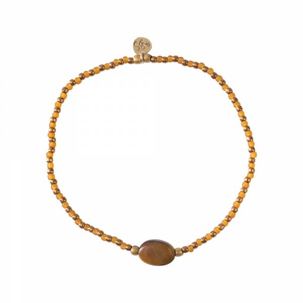Winter Tiger Eye Gold Bracelet