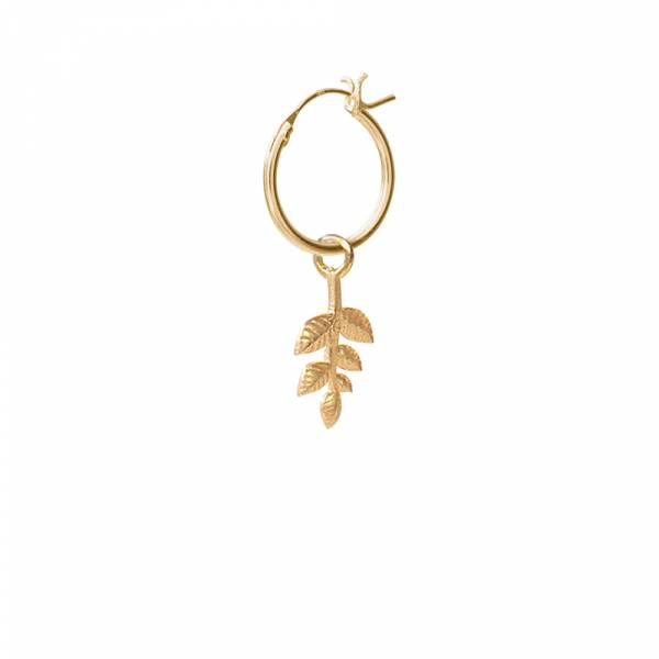 Branch Sterling Silver Gold-Plated Hoop Earring
