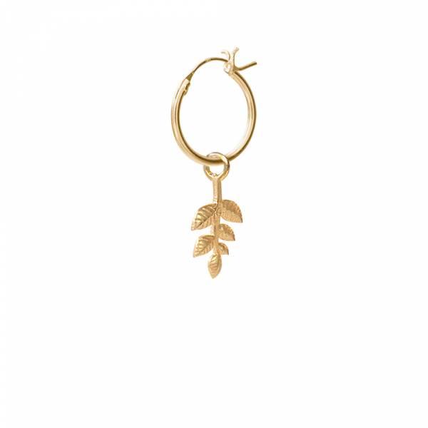 Olivenzweig Sterlingsilber vergoldet Ohrring