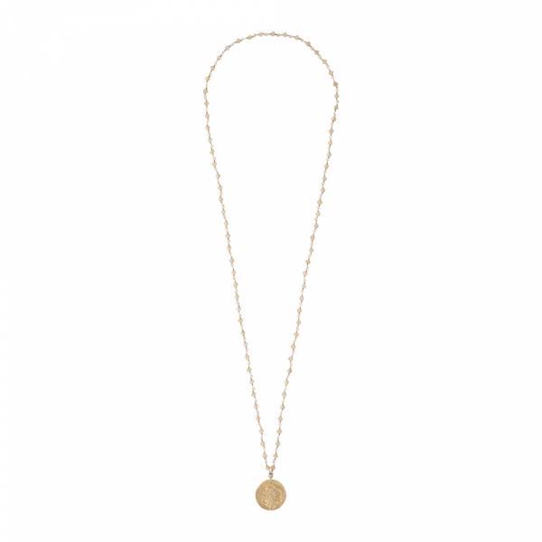 Rosary Citrin Pusteblume Gold Halskette
