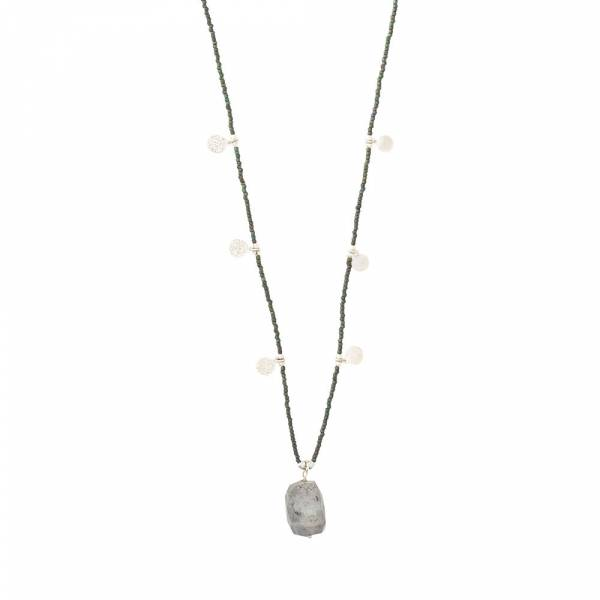 Charming Labradorite Silver Necklace