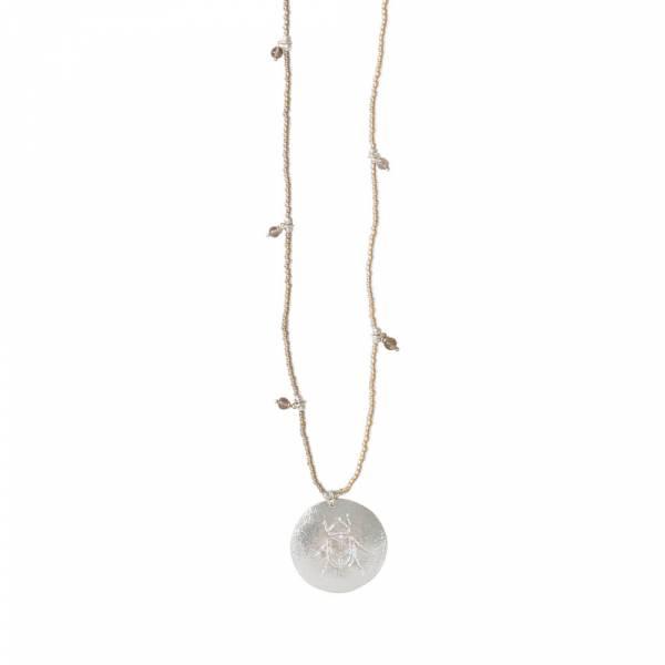 Radiant Smokey Quartz Silver necklace