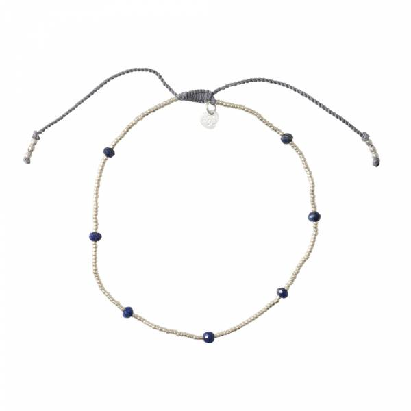 Spring Lapis Lazuli Silver anklet