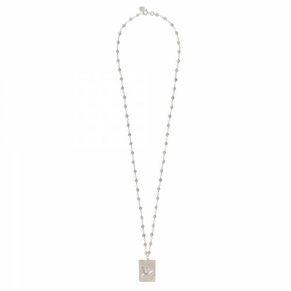 Radiate Labradorite Silver necklace